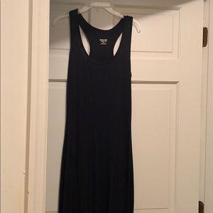 Simple black Razorback maxi dress  XS
